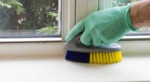 отмыть подоконник пластикового окна