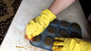 отмыть силиконовую форму