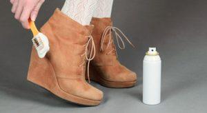 постирать замшевую обувь