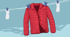 Как можно быстро высушить куртку после стирки