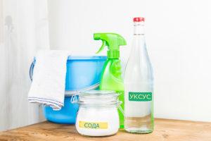Как отмыть ванну содой и уксусом