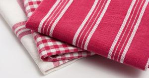 Как постирать кухонные полотенца с подсолнечным маслом